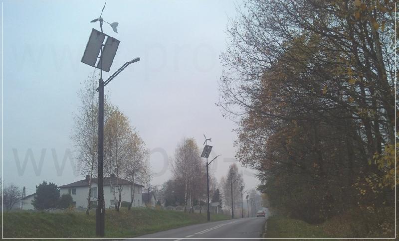 Oświetlenie uliczne za pomocą fotowoltaiki