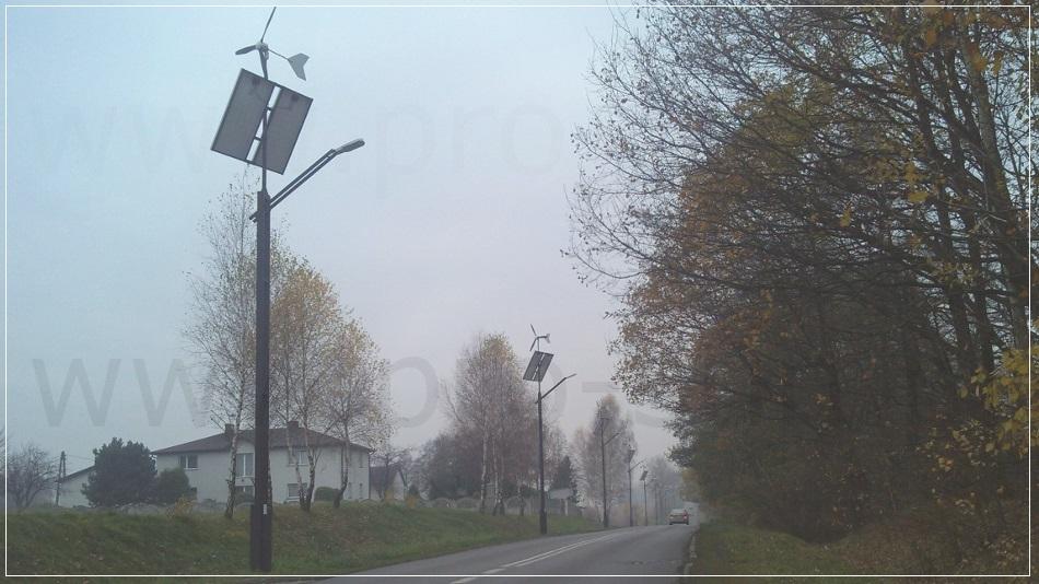 Oświetlenie uliczne z fotowoltaiką