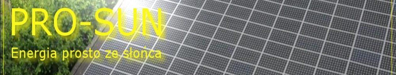 PRO-SUN : Energia odnawialna OZE : fotowoltaika, energia wiatru, kolektory solarne.