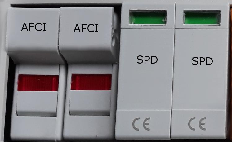Zabezpieczenie przed występowaniem łuku elektrycznego AFCI